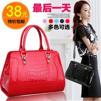Crocodile Pattern Women Handbag 2014 Famous Brand One Shoulder Bag PU Leather Women Messenger cross-body Bags