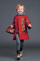 Top Quality brand design European autumn winter children clothing girls Outerwear Coat flowers fashion princess 3-12T Floral