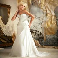 Wedding dresses 2014 In Stock Sweep Train New Plus Size lace Wedding dress Wedding gown vestido de noiva2014fashionable vintage