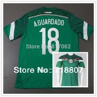 A.GUARDADO Mexico Jersey Green 2014 World Cup,Top A+++ Thailand Player Version, Mexico #18 A.GUARDADO Home 14-15 Soccer Jerseys