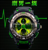 Fashion Men Sports watches Man digital quartz Chronograph Male Wrist watch Men's LED Wristwatches