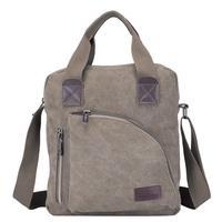 Solid color large canvas male bag man bag messenger bag canvas large capacity 803