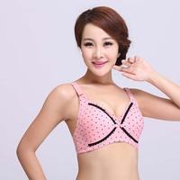 Sexy women bra  women's 100% cotton conntunderwear wrie Free  front closure  bras B cup