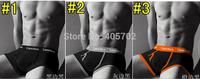 (2pc/lot) FREE SHIPPING 2014 HOT SALE Multicolor 100%cotton men's underwear in the waist solid color pants M L XL XXL