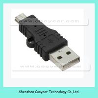 USB Type A Male to 5-Pin Mini-USB Type B Male Adapter.Brand New.Black