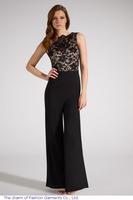 Pluse Size Jumpsuit Women macacao feminino Sleeveless Black Long Lace Loose Combinaison Overalls Bodysuits M L XL LC6496
