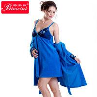 2014 Free shipping   autumn winter female women's noble  Sexy elegant embroidery  velvet robe nightgown  pajamas sleepwear 14233