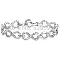 Free shipment Hot selling diy ts fashion TH357 chain bracelet silver plated rhinestones bracelet wholeseller