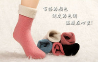 Autumn Winter wool thick girls'Socks & Hosiery for women Fashion Ladies mid-calf stockings 20pcs/lot Whole sale free shipping