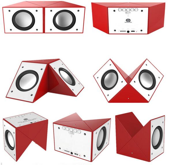 Newest Creative sound box Magic cube 360 degree rotation Portable Mini Bluetooth Speaker Stereo BT altavoces Christmas gift(China (Mainland))