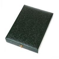 Dorabeads Velvet Jewelry Gift Boxes Cases Rectangle Dark green 19.5cm x 14.5cm x 3.5cm,1Pc