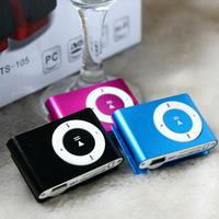 1-8GB Support Micro SD TF Mini Clip Metal USB MP3 Music Media Player Orange