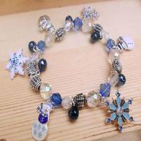 Limited!! Snow Romance Elsa and Princess Anne Snowflake Bracelets Fine Bells Fashion Accessories