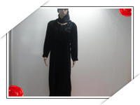 black arabic abaya with botton in  wholesale price for free shipping 042715