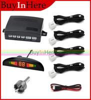 3 Color Car Vehicle Auto 4 Parking Sensor System Rear Radar LED Distance Display Beep Alarm Voice Reverse Backup Monitor 12v