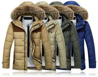 New Brand Warm Winter Jacket Men Coat Thicken Outerwear Hoody Duck Down Jacket The North Hoodie Jacket Outdoors Men's Parka Coat