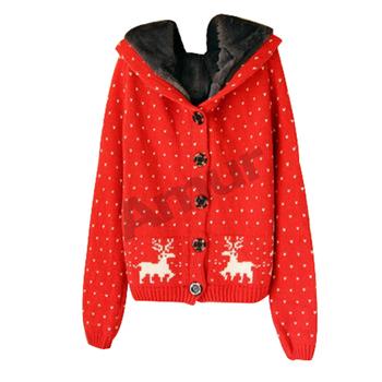 Амур осень / зима рождество свитер пуловеры толщиной снежинка олень схема