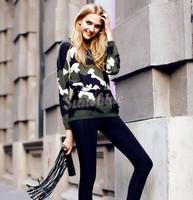 2014 New Fashion Winter Women Wool Sweater Thick Knitting long Sleeve O-neck Women Pullover wholesale B19 CB031877