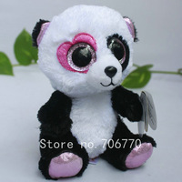 "IN HAND!  Ty beanies Boo 2014 Cute Big eyes Animal ~Mandy The Love PANDA~defect on eye~Plush doll 6"" 15cm Stuffed TOY BEST GIFT"