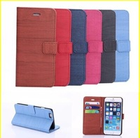 Wood styles Flip wallet leather case for iPhone 6plus 5.5inch For Apple iPhone 6 plus Case Phone Cover Bags Free Shipping