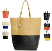 100% real leather Women handbags Panelled Casual Tote Female Shoulder bag Portable Bucket Bag Shopping bags BH6047 Free Shipping