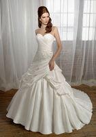 Vestidos Sale 2014 Stock New Style Ivory/white Long Beaded Sleeveless Ball Gown Bridal Wedding Dresses Free Shipping
