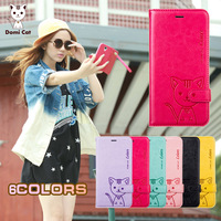 Domi Cat Lovely Leather Case for iPhone 6 5.5 Plus , Protective Cover Case for iPhone6 Plus,Support Dropshipping