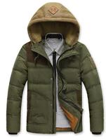 2014 New Brand Warm Winter Jacket Men Coat Cotton Hoodie Jacket Outdoors Men's Parka Coat Thicken Outerwear Hoody Down Jacket