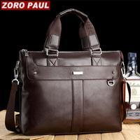 Hot new fashion men's  business casual briefcase male portfolio laptop shoulder bag high quality handbags   bg0237