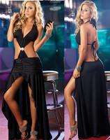 Party Evening Dress 2014 fashion club bodycon bandage dress sexy women Sleeveless  backless Ankle-Length dress