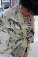 Wholesale 20 colors choice womens cotton voile scarf fashionable 180*110 big size shwal wrap beach pashmina print leopard