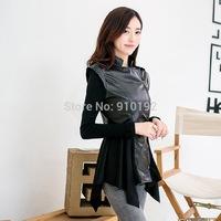 2014 Korean new women's autumn long-sleeved jacket PU leather motorcycle