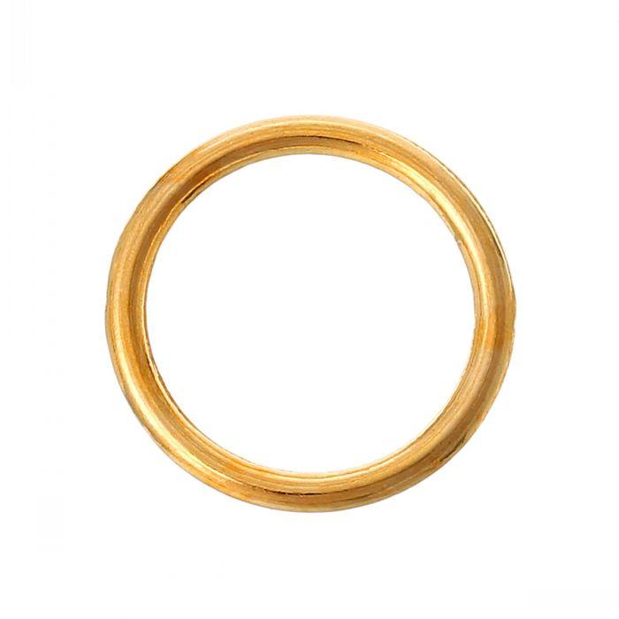 "Retail Closed Jump Rings Round Gold Plated 16mm(5/8"") Dia,200PCs(China (Mainland))"