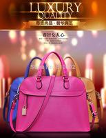 Woman bags fashion 2014 designers genuine leather handbags messenger bag shell bag 7 color 100% cowhide bags for women /sac