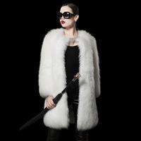 Pattra leaf Bayeux 2013 winter fashion lady integral skin fox fur coat brand ladies