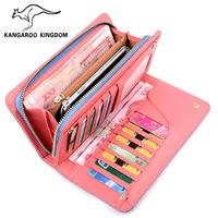 Kangaroo wallet long design clutch bag card holder fashion women's zipper bag