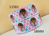 50Y13383 david ribbon 1.5'' grosgrain ribbon hairbows printed ribbon diy garment accessories freeshipping