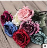 100Pcs/Lot  Wholesale EMS Fedex Free Shipping  9*60CM  Fabric Home Wedding Christmas Decoration Artificial Rose Flower Mix Color