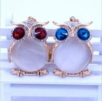 The commodity creative custom owl zinc alloy key ring pendant accessories accessories Korea strange little gift