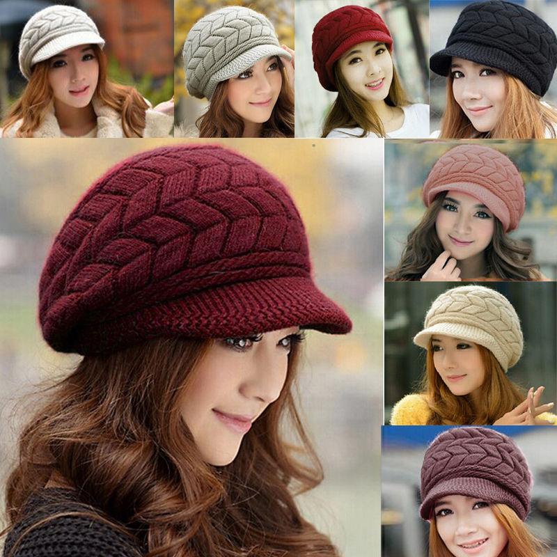 2015 Women Autumn Winter Fashion Knitted Hat Beanie Beret Wool Hat Knit Crochet Ear-Warmer Peaked Cap Skull Warmer Free Ship(China (Mainland))