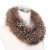 2014 Fashion Lady Genuine Raccoon Fur Scarf Wrap  Winter Women Fur Neckring  Accessory Neckerchief  QD30549