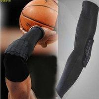 Pro sports high-elastic Honeycomb Pad Crashproof Cycling Basketball Shooting Arm Sleeve Elbow Support