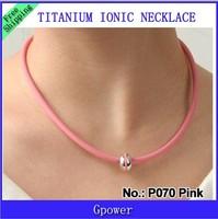 Hot sale Power Ion band pendant Titanium  Necklace P070 L  free shipping