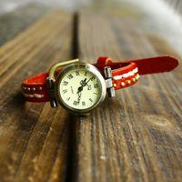 Genuine Cowhide punk watch leather bracelet brand fashion ladies wristwatch dropship wholesale
