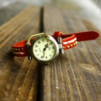 Genuine Cowhide punk watch leather bracelet brand fashion ladies wristwatch dropship wholesale