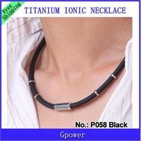 Hot sale P058  NPB Ion magnet Balance pendants men band Tourmaline Necklaces 10pcs/lot free shipping