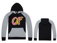 Free Shipping New Arrival Hot Sale Cheap Brand Odd Future Sweatshirt Black Gray Raglan Sleeve Odd Future Hoody-009