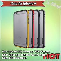 X-SHOP,SGP SPIGEN Neo Hybrid EX Bumper TPU Frame SGP Case for iphone 6 4.7 inch Slim Skin Bumper for iphone 6 phone Bumper