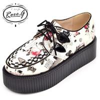 Rose.g Autumn Winter 2014 Flowers vivi recommended platform single shoes sweet women's Floral creepers punk shoes