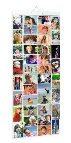PVC Photo Pockets Hanging Display, 80 photos in 40 pockets, Mega, Clear(China (Mainland))